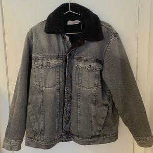 Calvin Klein Fleece/Borg Lined Denim Jacket Grey